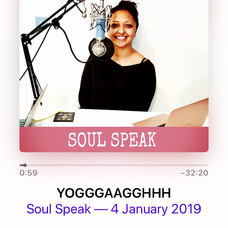 Soul Speak - My podcast. Find it on Spotify and iTunes