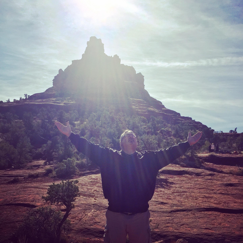 MY FATHER-IN-LAW ENJOYING THE RAYS | SEDONA, AZ