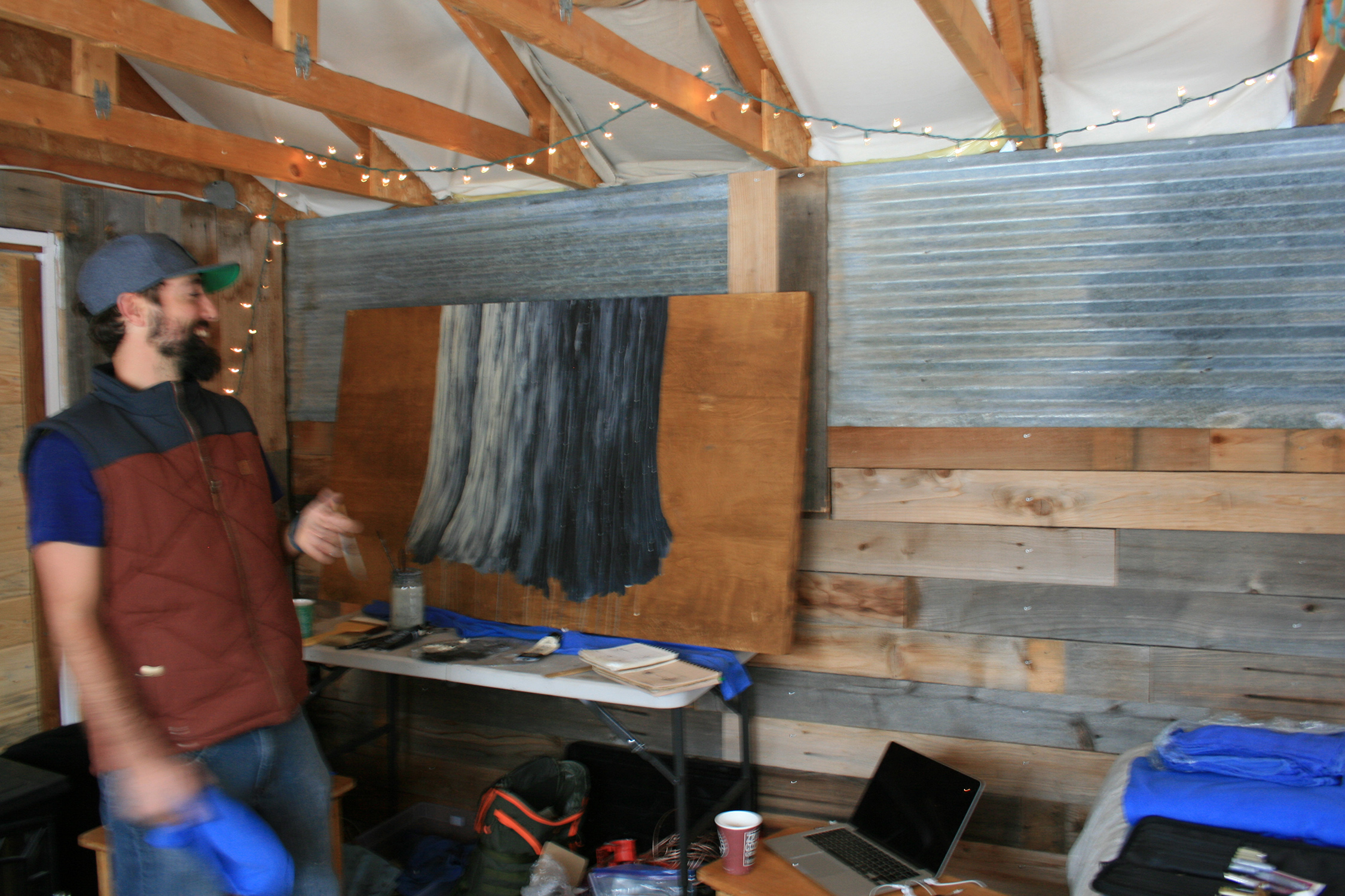 Working on  The Crosscut Sawyers  in The Shed. | Laporte, CO