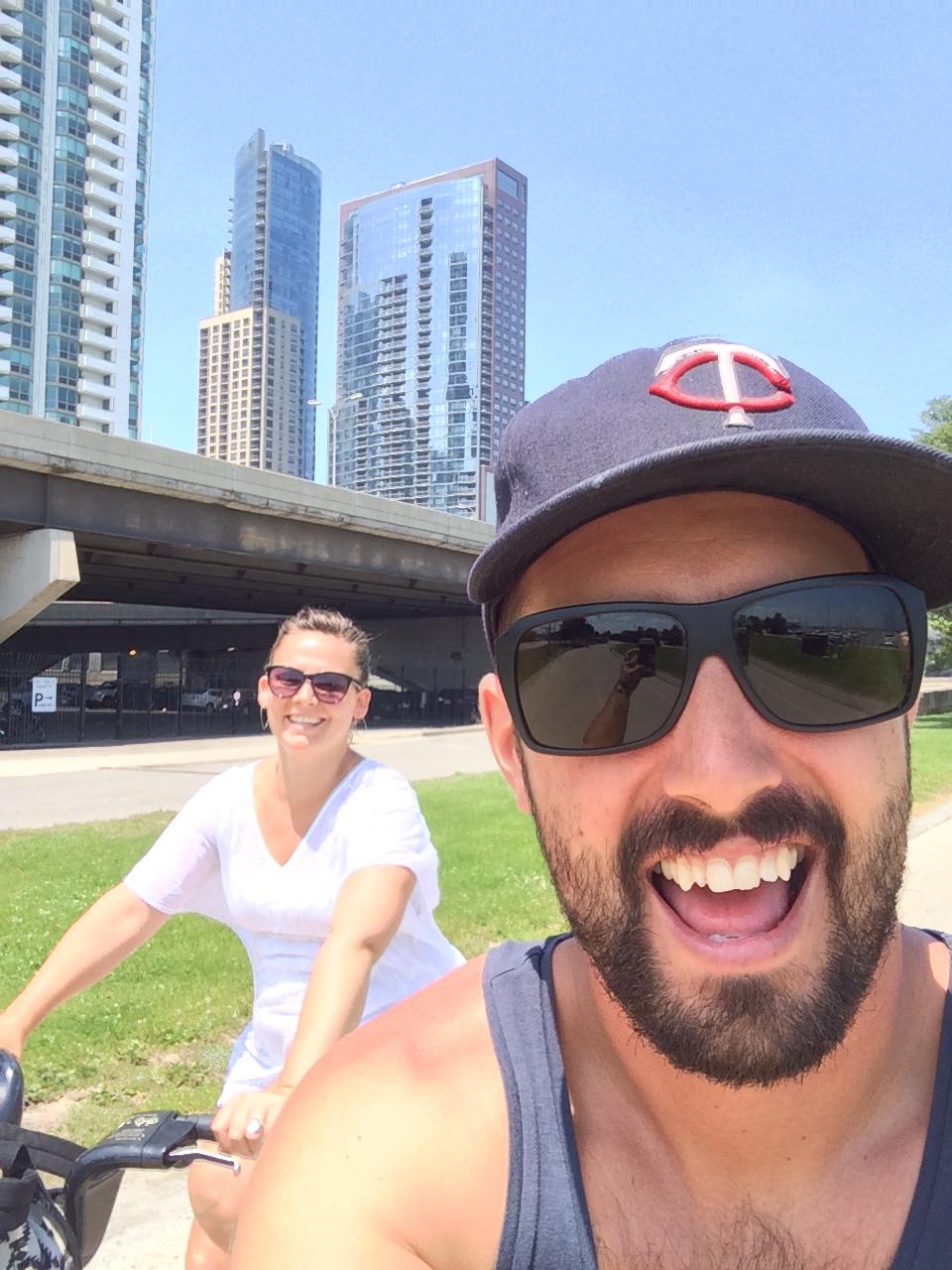 We love city bike riding   Chicago, IL