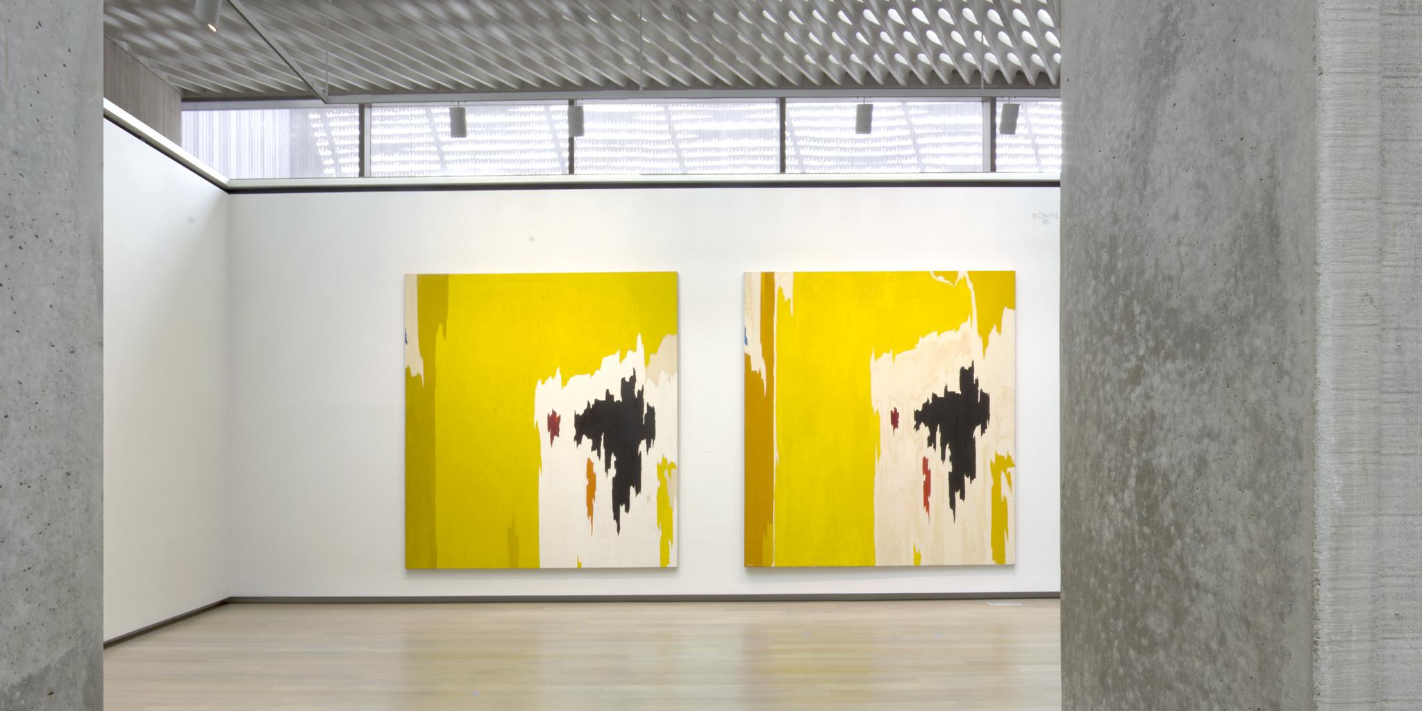 {L} Clyfford Still | PH-225 | Oil on Canvas | 115 x 104.75 in. | 1956 {R} Clyfford Still | PH-1074| Oil on Canvas | 117 x 108 in. | 1956-9 | ©City & County of Denver