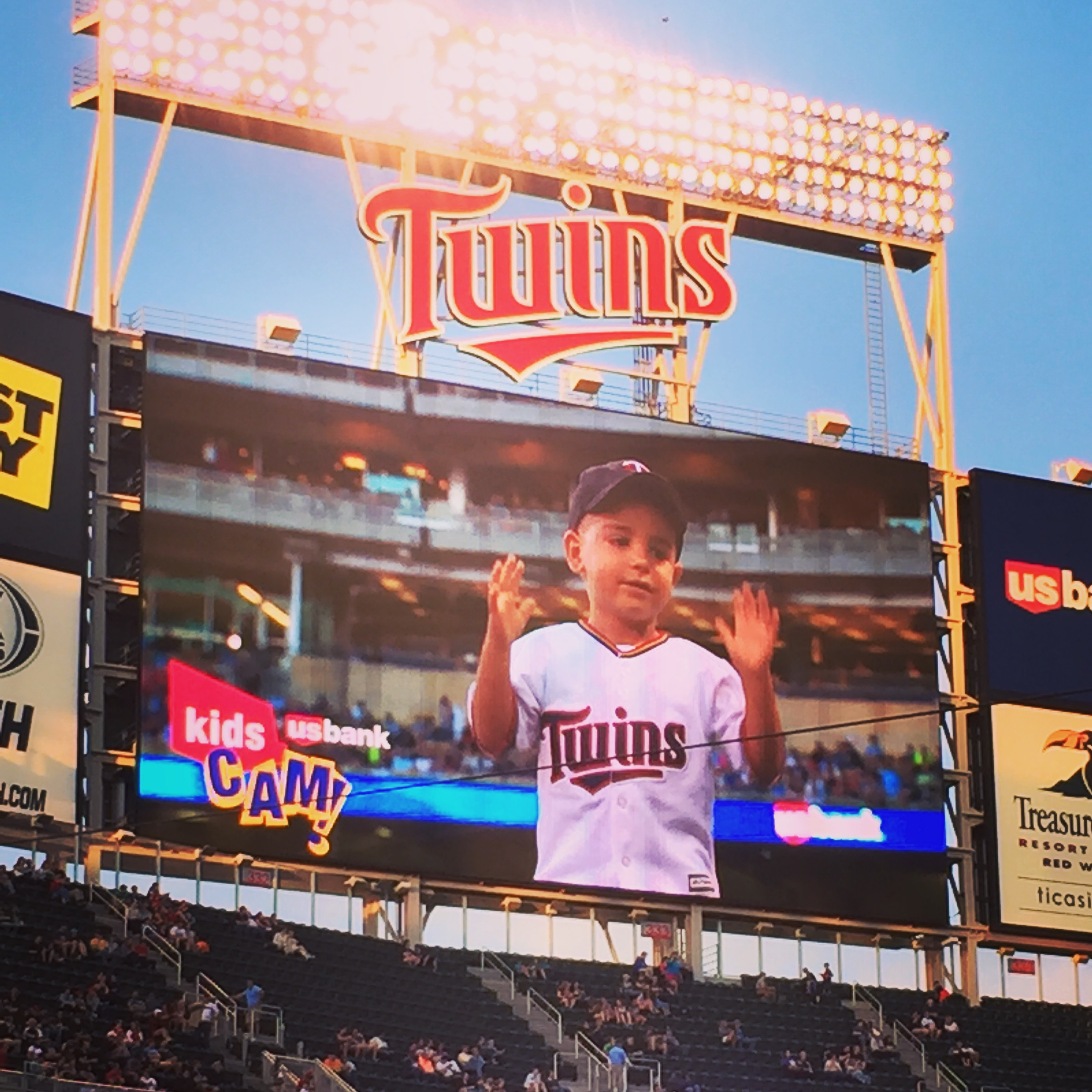 Big screen at the Twins game | June | Minneapolis, MN