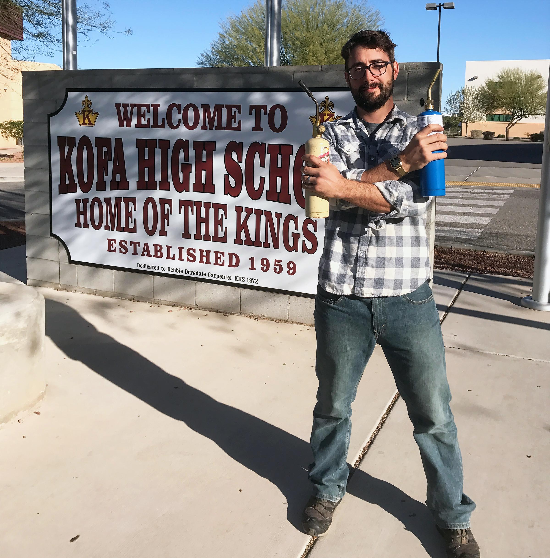 Kofa High School Visit   Yuma, Arizona