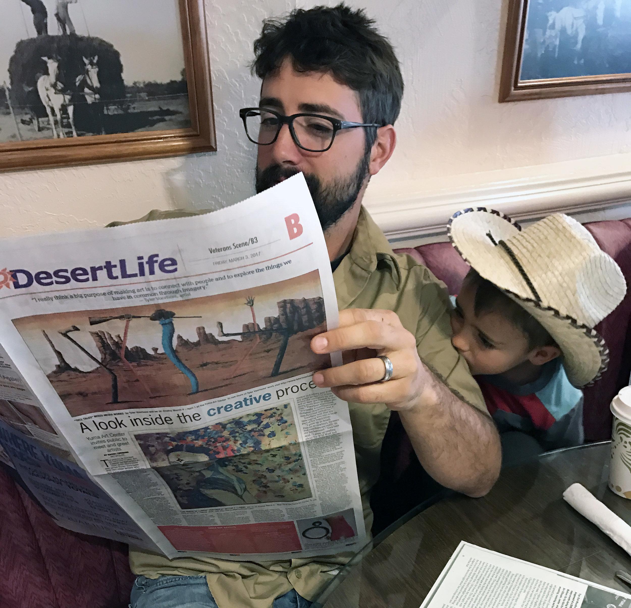 Article in the Yuma Sun, Desert Life Section   Yuma Landing Bar & Grill    Yuma, AZ
