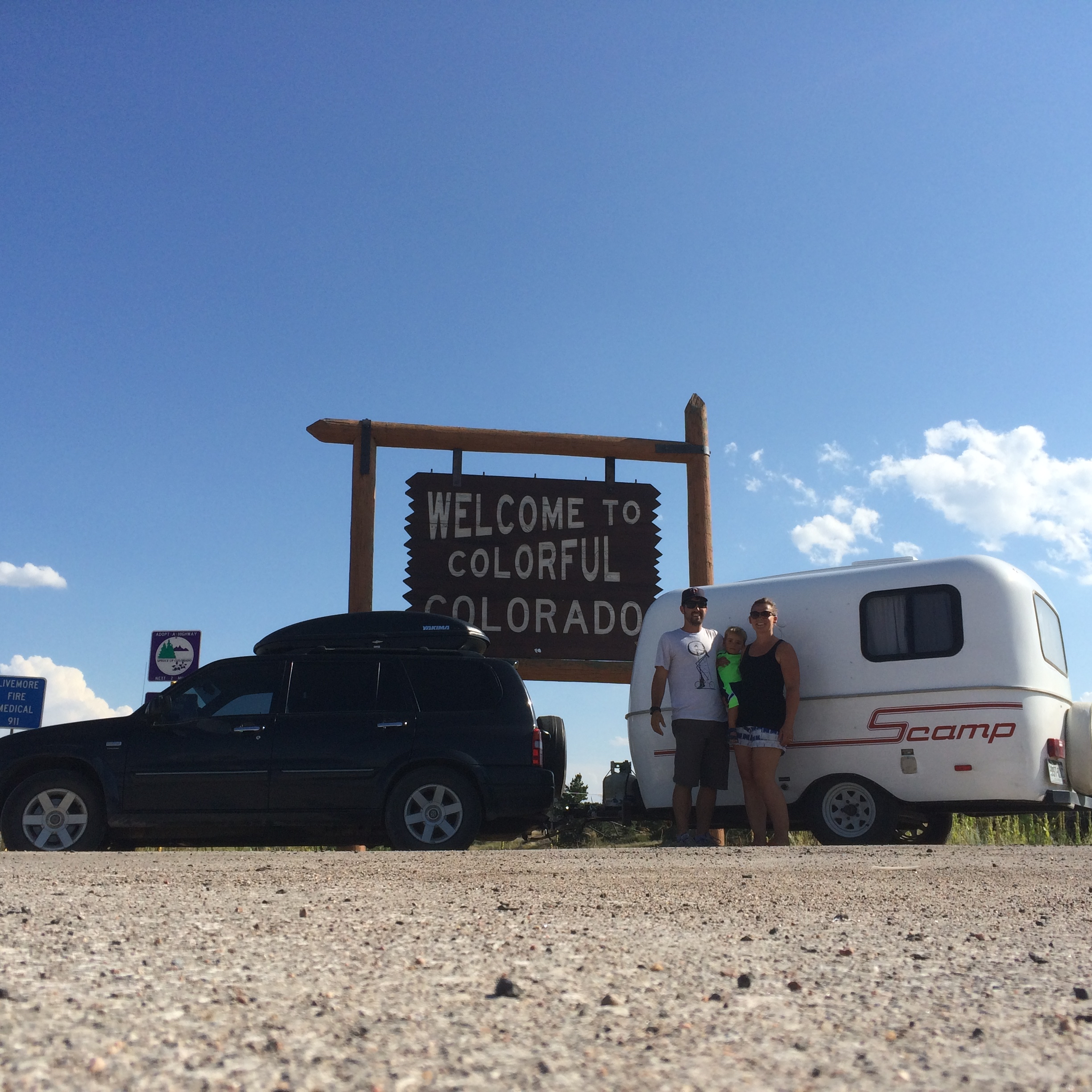 Arriving home after our first ten weeks on the road. - August 2015 - Colorado/Wyoming Border