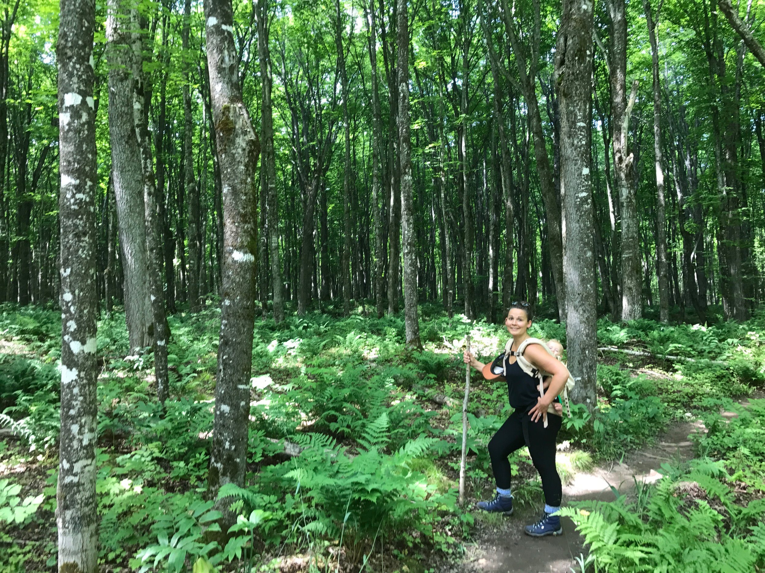 Hiking in the UP to the beaches of Lake Superior. - July 2017 - Yoopee, Michigan