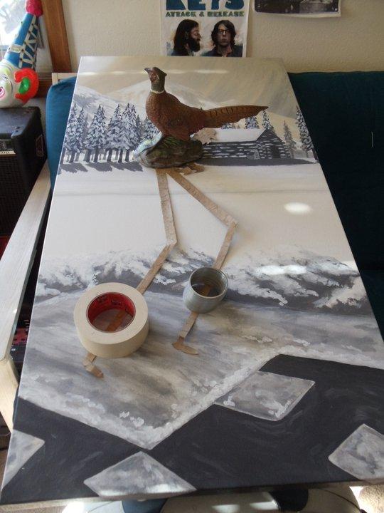 The original Ice Cutter in the same Boulder second bedroom studio | Boulder, CO