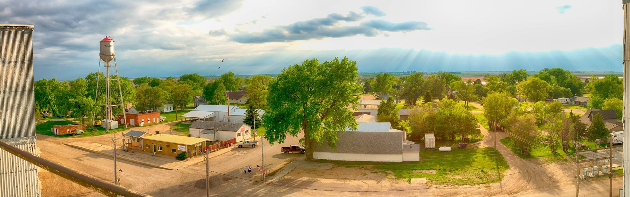 The entire town of Tulare, SD all in one frame. My hometown and a little chunk of Midwest heaven.