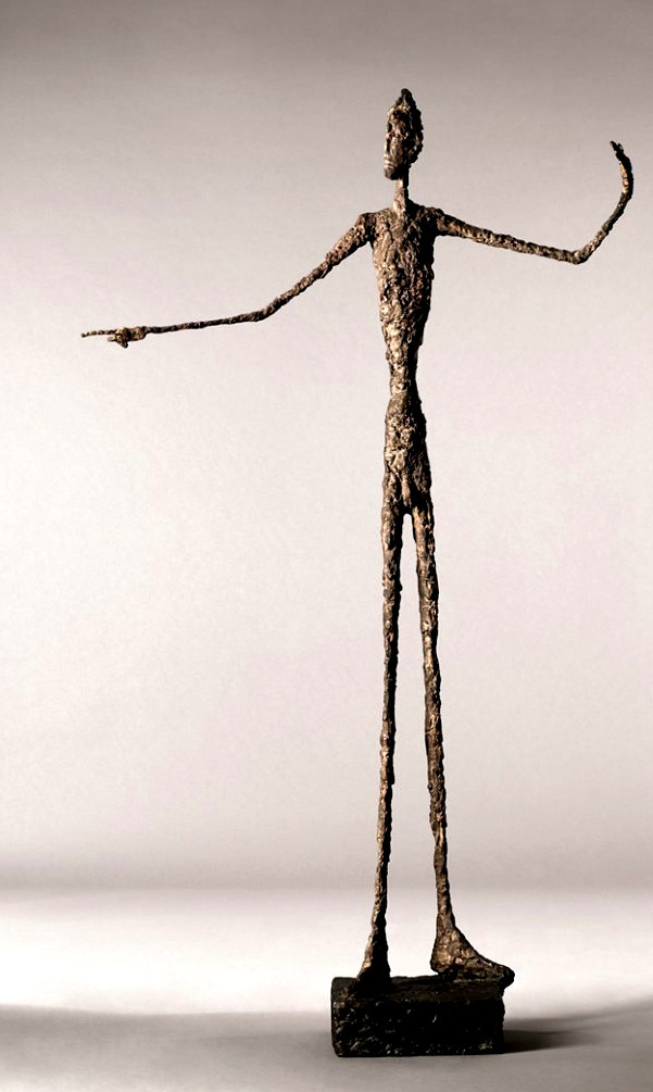 "Albert Giacometti, ""Pointing Man,"" This sculpture set a record when it sold for $141.3 million in 2015"