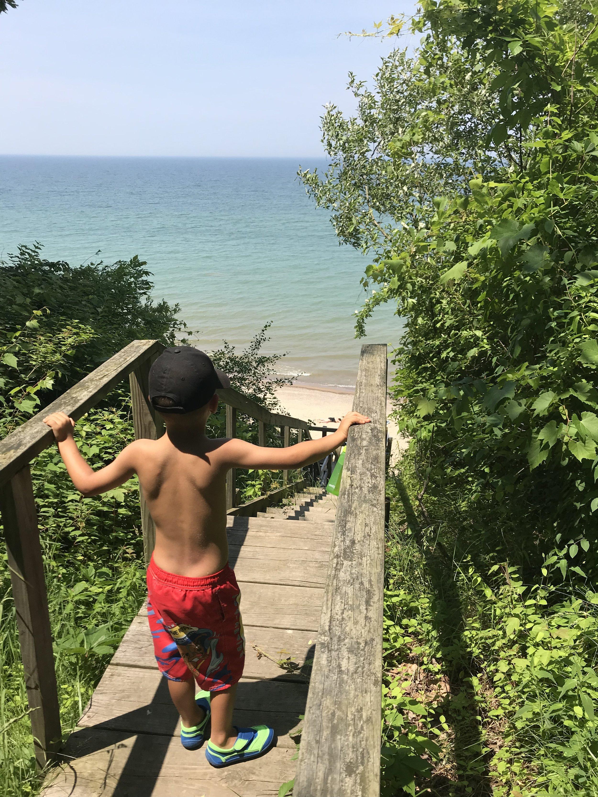 Beach staircase   Glenn, MI   June