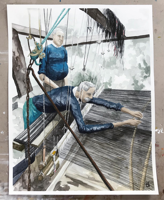The Weavers | Watercolor