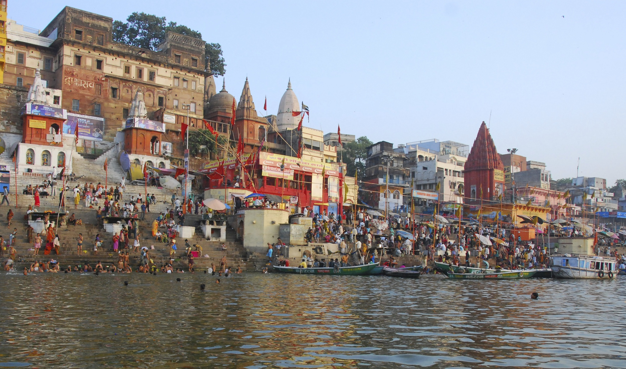 One of the many ghats along the banks of the Ganges.