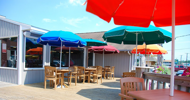 The ice cream deck at Chincoteague's Island Creamery
