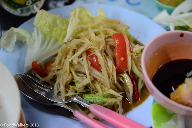 Mind-blowing Som Tam (green papaya salad)