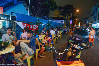 Lorong lounging - a popular activity in Geylang