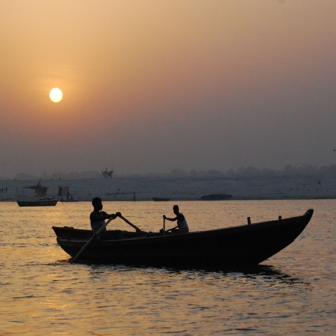 Sunrise on the Ganges, Varanasi India
