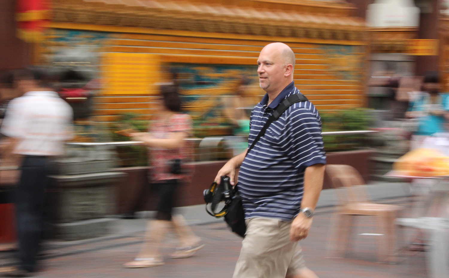 The Foodwalker on the move.