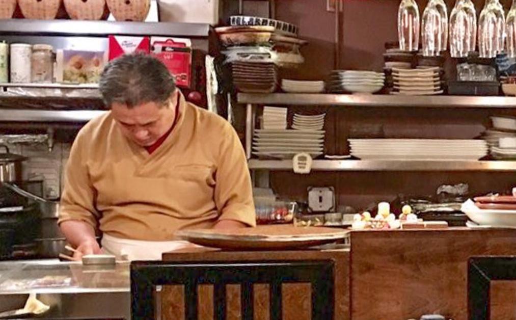 Chef Yoshimichi Takeda at work