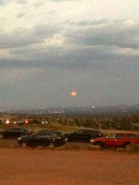 Apparently, this particular full moon was a Harvest Moon. I'm not too proud to admit that I don't know what that means.