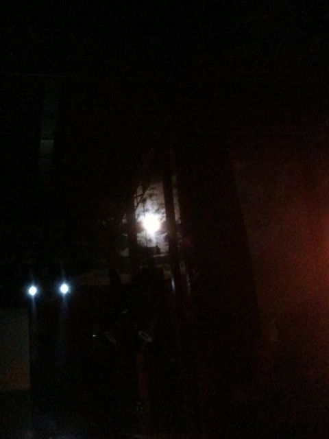 The harvest moon made a dramatic appearance from behind the stage after Jennie's lovely opening performance.