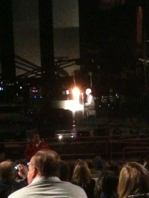 Peter Gabriel opened his set with an acoustic performance of an as-yet-to-be-titled song-in-progress.