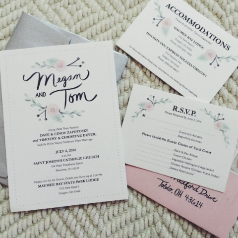 The Dever's Wedding Invites