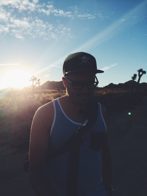 Sunrise at Joshua Tree Park.
