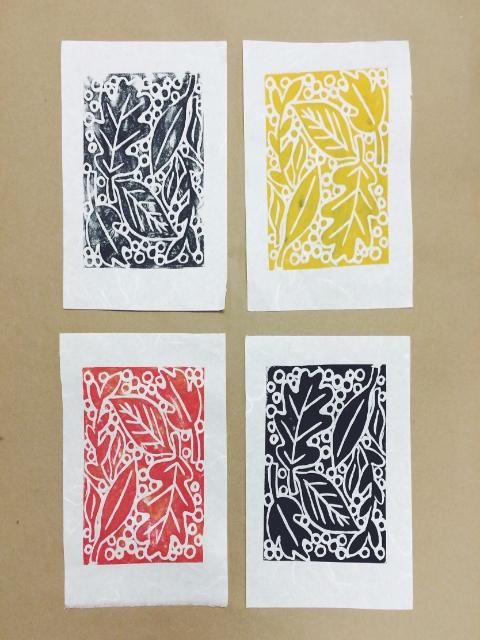 My first linocut prints!