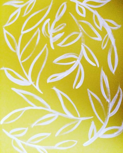 vines on yellow