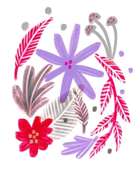 floral in pink & violet