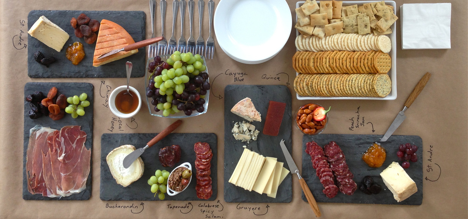 Cheese+Charcuterie Table