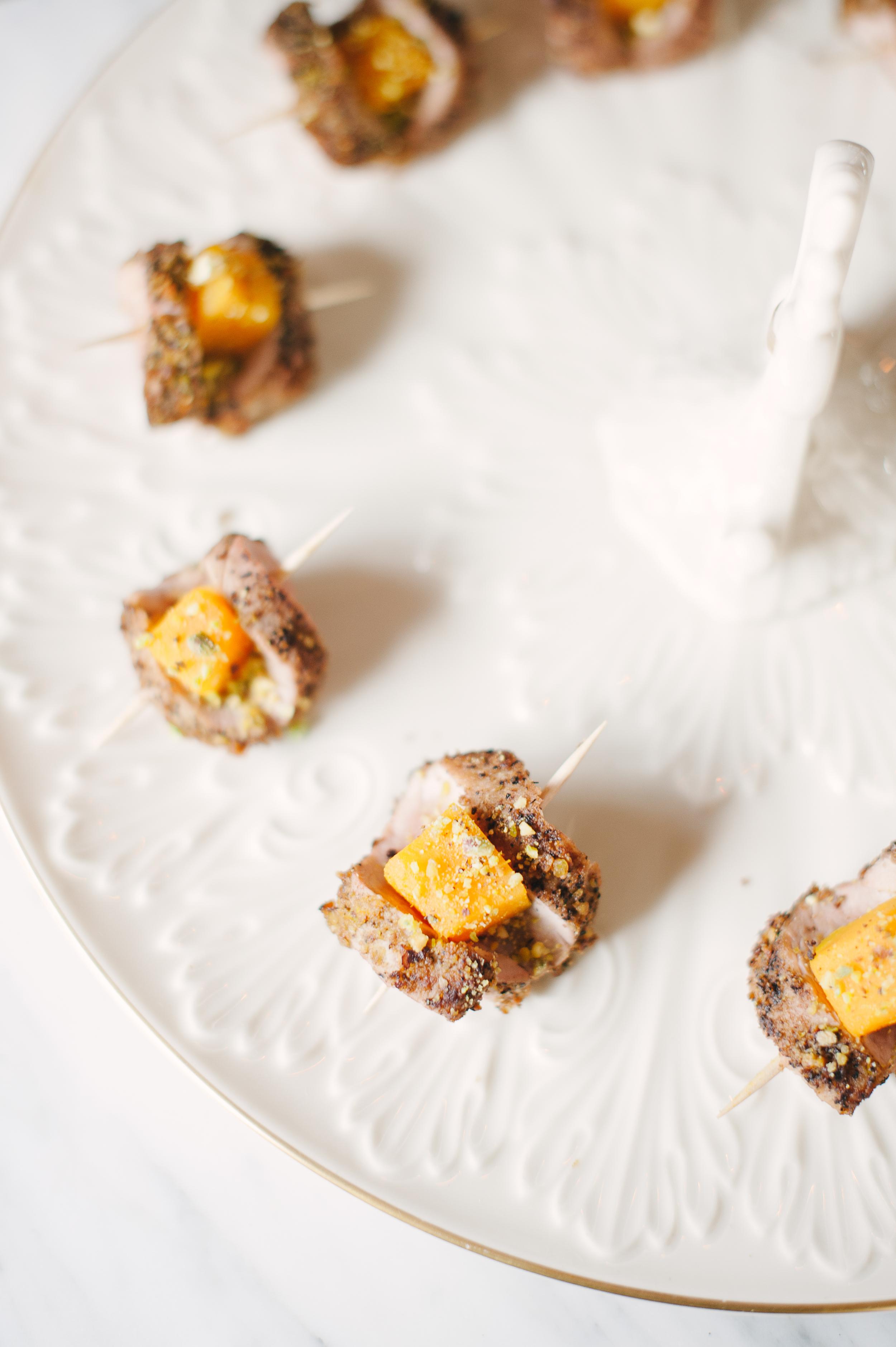 Pork Tenderloin with Honey Orange and Butternut Squash