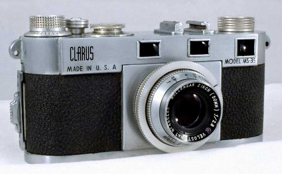 "An early Clarus MS-35 model with the stock 2"" lens. Photo: Genazzano @fotki.com"