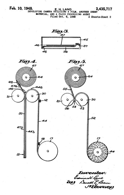 US Patent #: US002435717 for Self-Developing roll film.