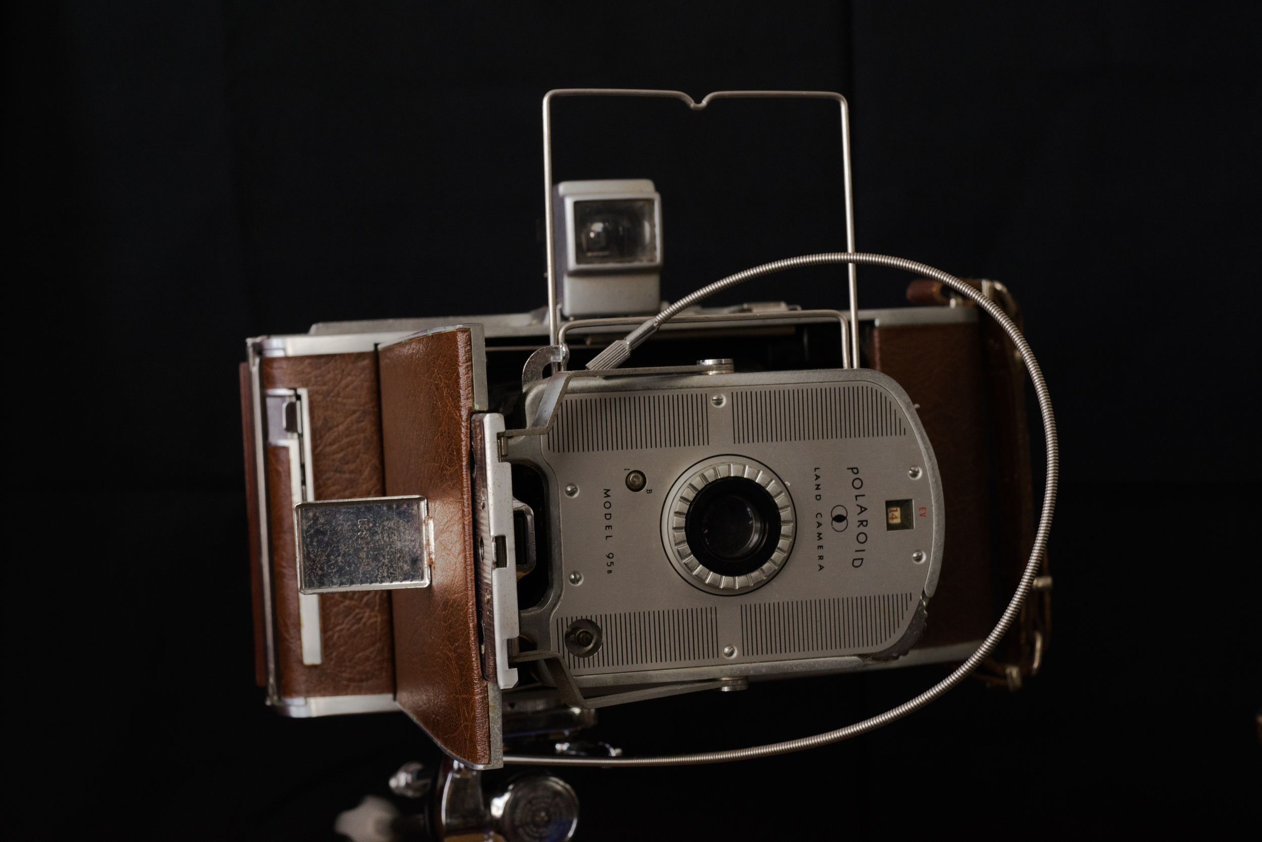 A late production Model 95B, modified to use 3000-speed film, mounted a tripod on the side mount with remote shutter release. attached.Photo: Trey Takahashi