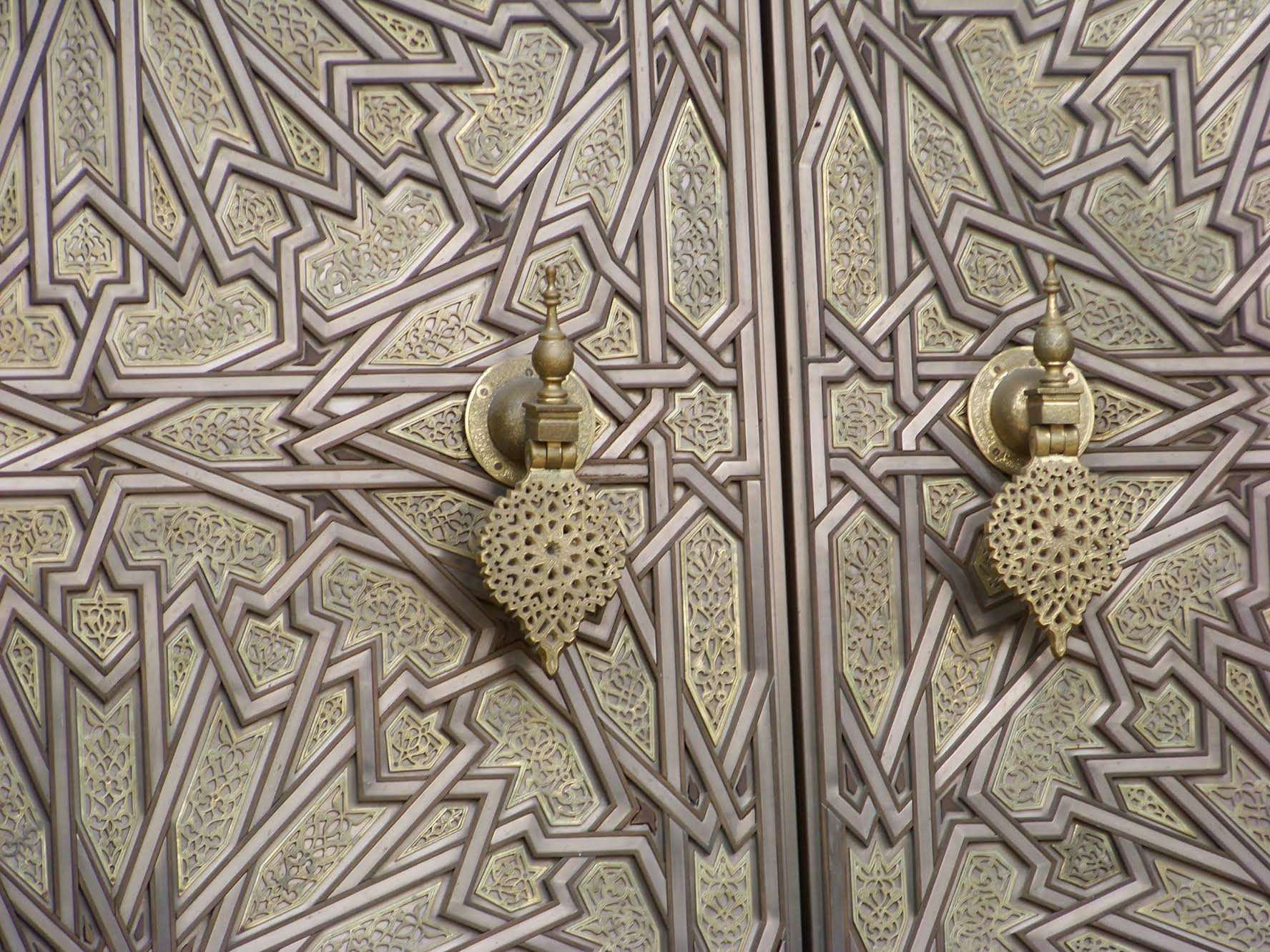 Photo by Celene BarreraPerfect set of patterns - door handles at the Moroccan president's palace in Casablanca.