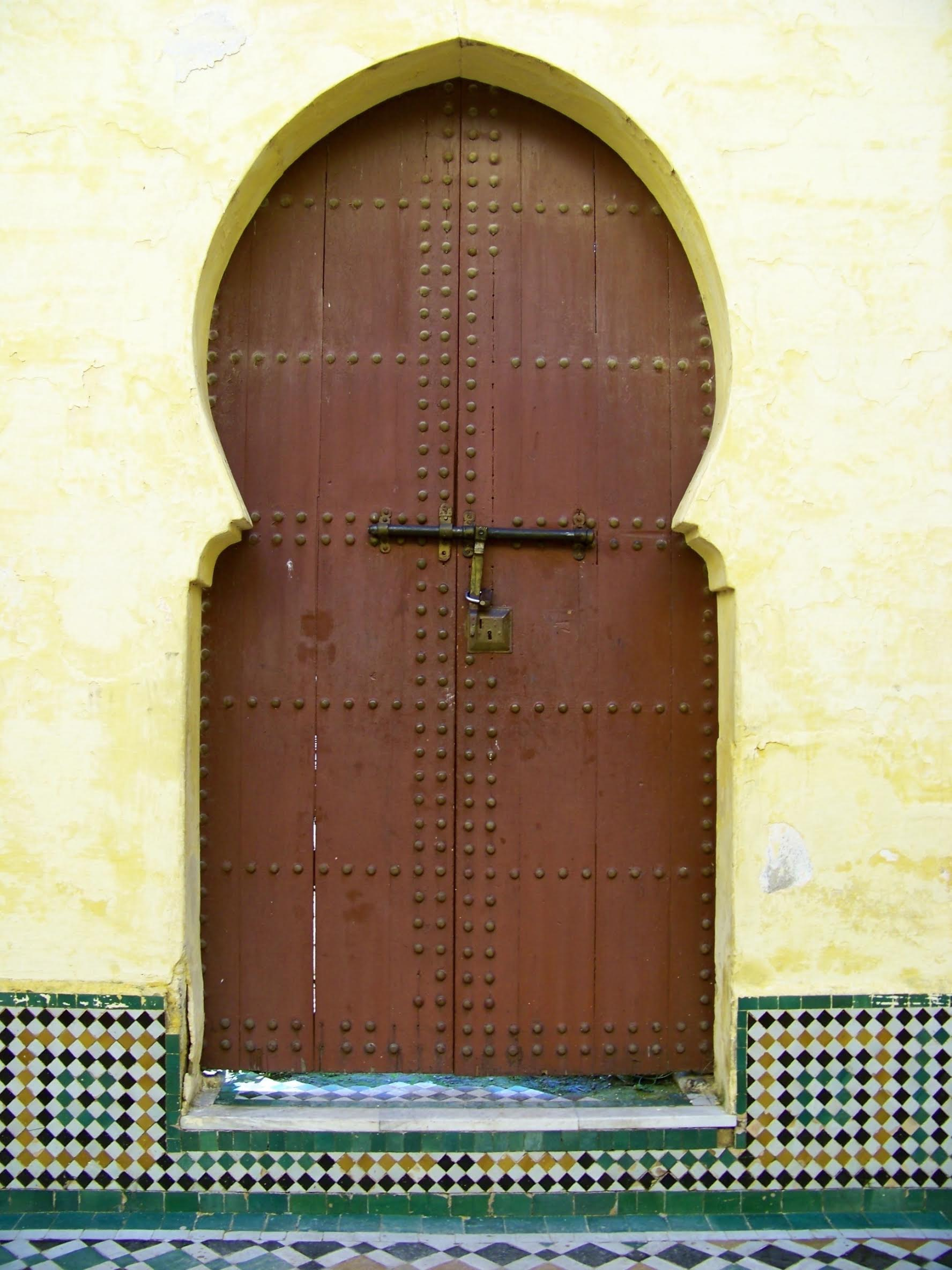 Something old - an old door; this one is from Moulay Ismail's tomb, I believe.   Photo by Celene Barrera