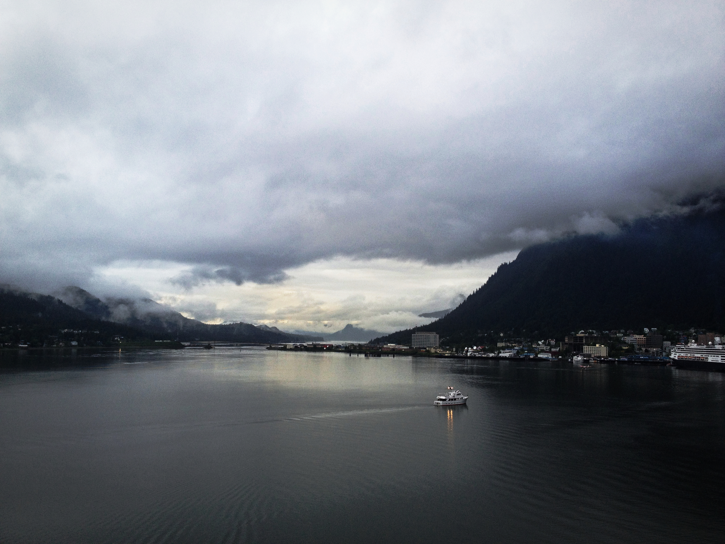 A view of part of the capital city of Juneau, Alaska. Photo: Trey Takahashi