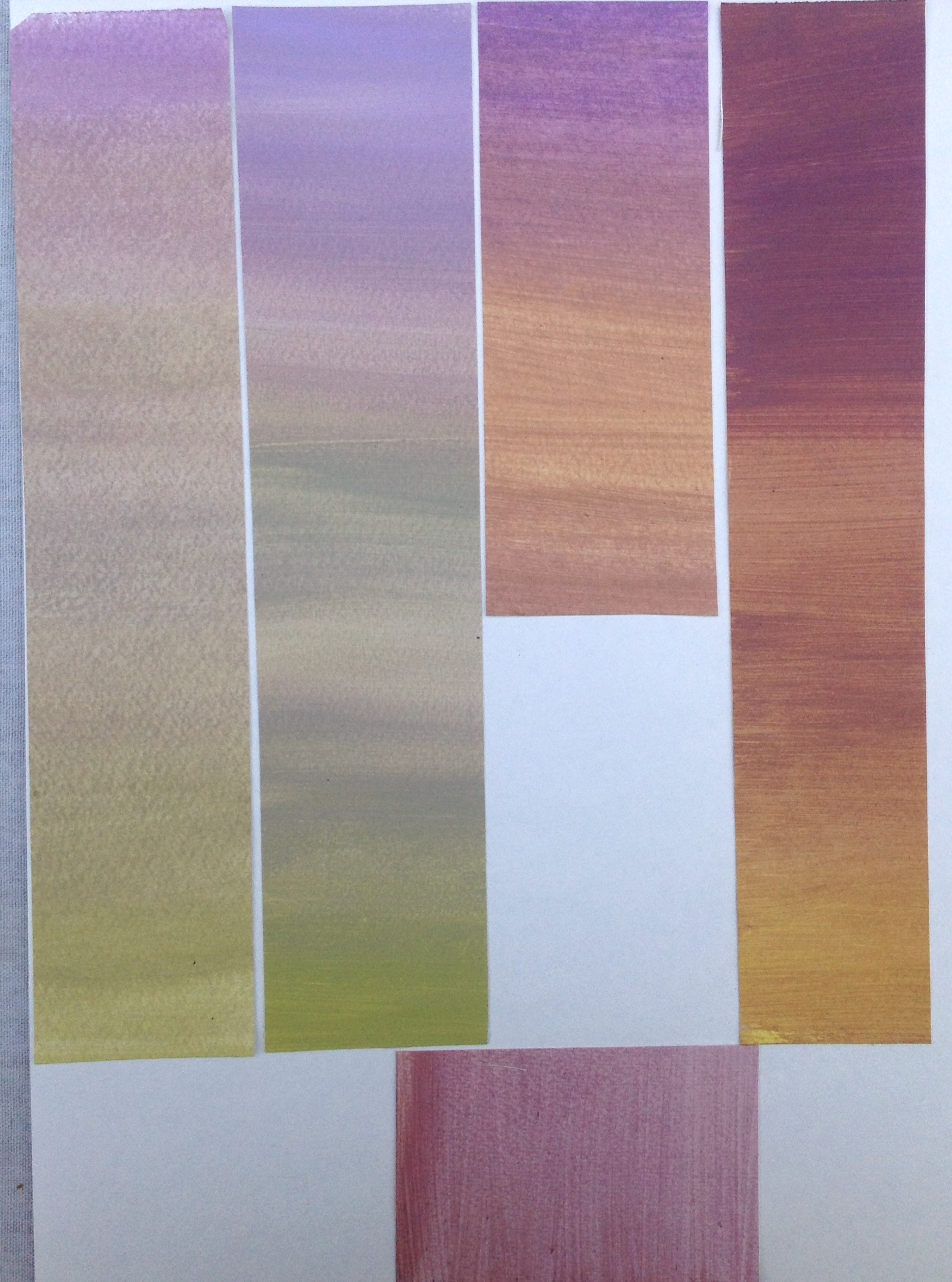 Strips from papers painted for exercise 4