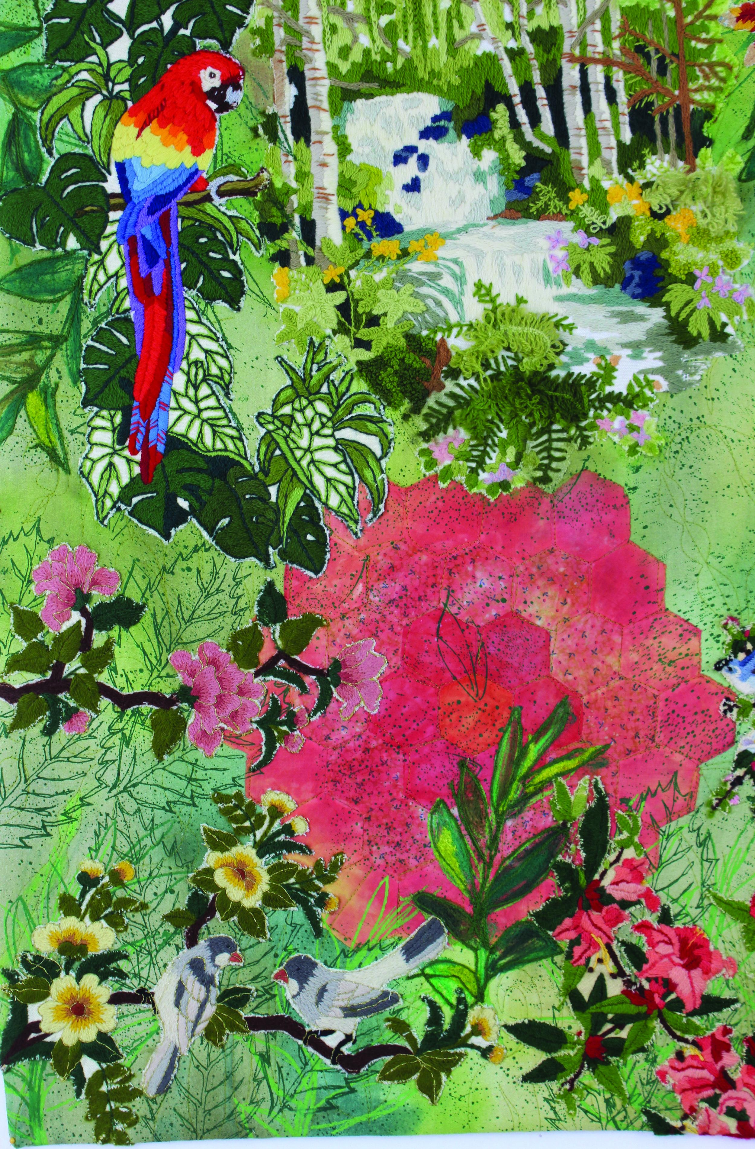 Grandmother Matisse's Flower Garden Detail