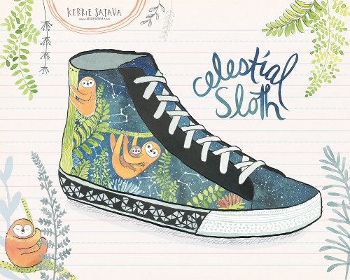My entry for the Lilla Rogers 2015 Global Talent Search: Celestial Sloth Sneakers