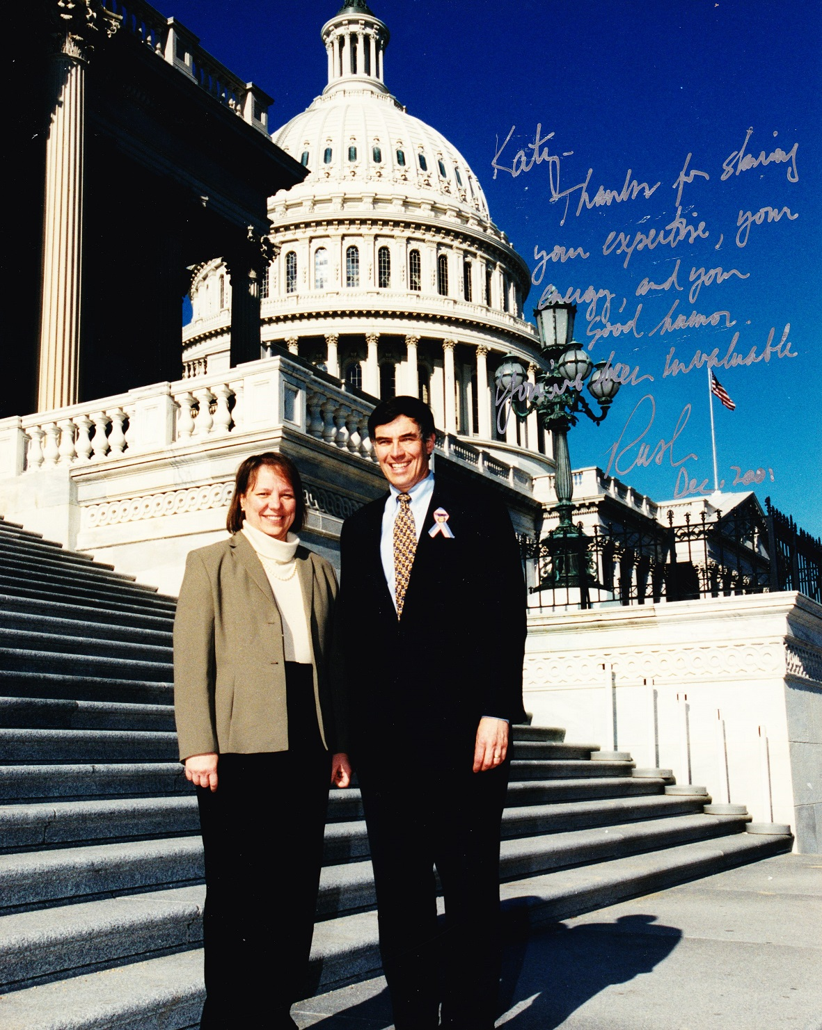 Author with Congressman Rush Holt (NJ-12) in 2001.
