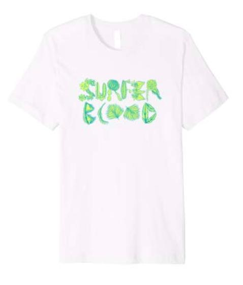 Surfer Blood 1000 Palms Plants T-Shirt (White)