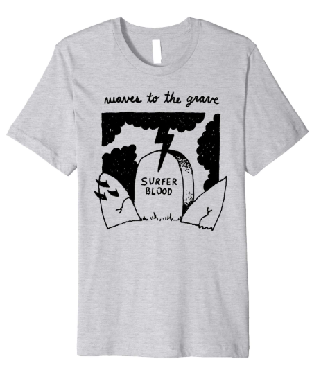 Surfer Blood Waves to the Grave T-Shirt (Heather Grey)