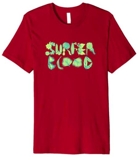Surfer Blood 1000 Palms Plants T-Shirt (Cranberry)