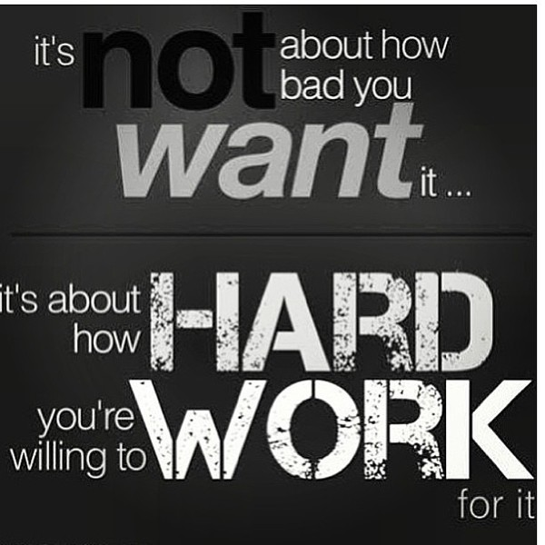 Motivational Sayings Motivational Quotes For Work It's About How Hard You're Willing To Work   Source