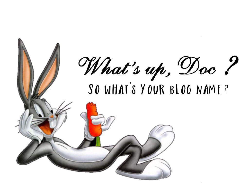 What's Up Doc Good Blog Names What's Your Name   Source