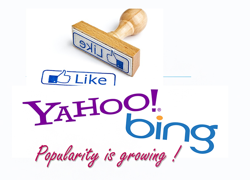 I'm Popular Yahoo Bing Popularity Is Increasing   Source
