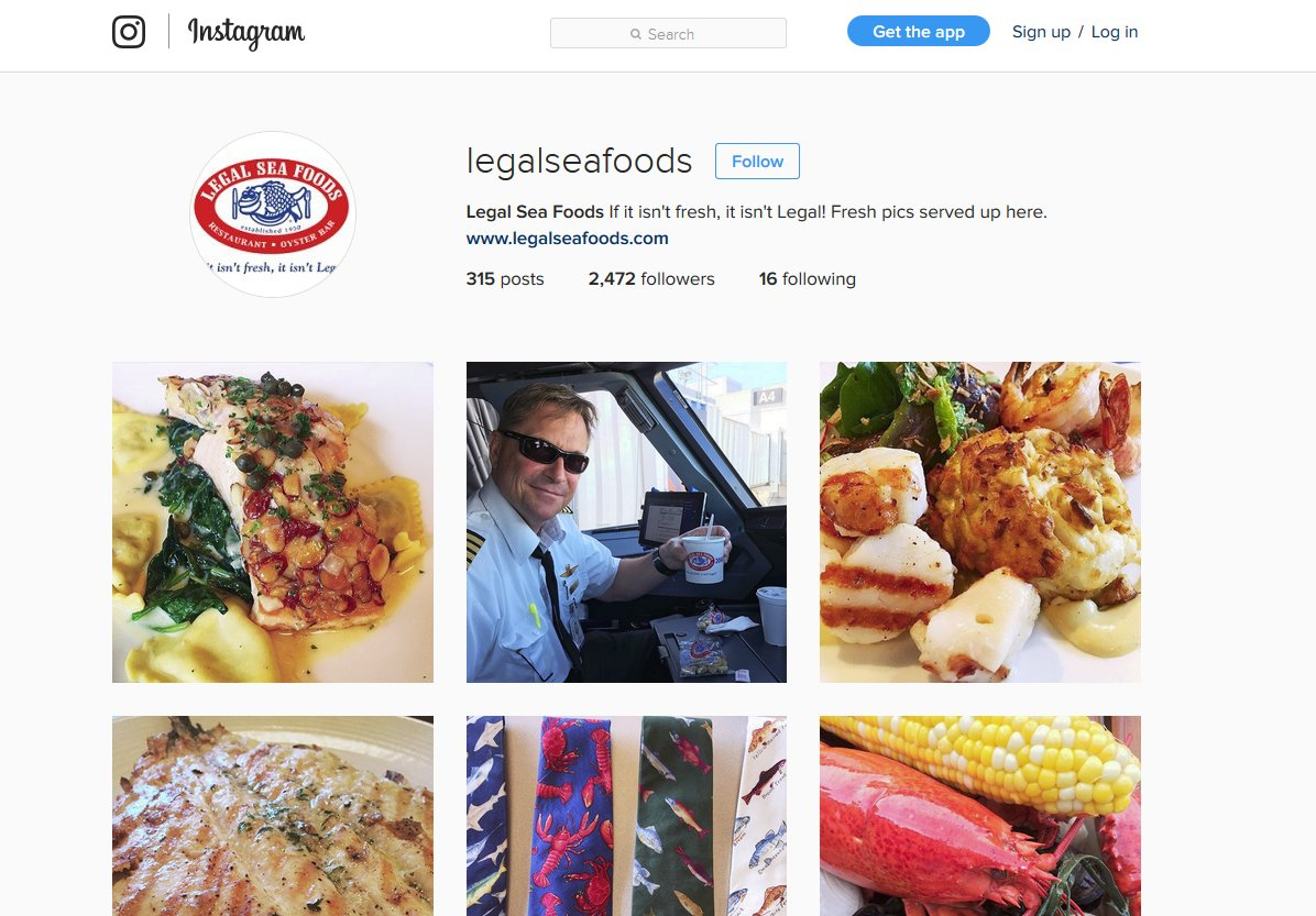 Instagram Analytics Legalseafoods Instagram Page   Source