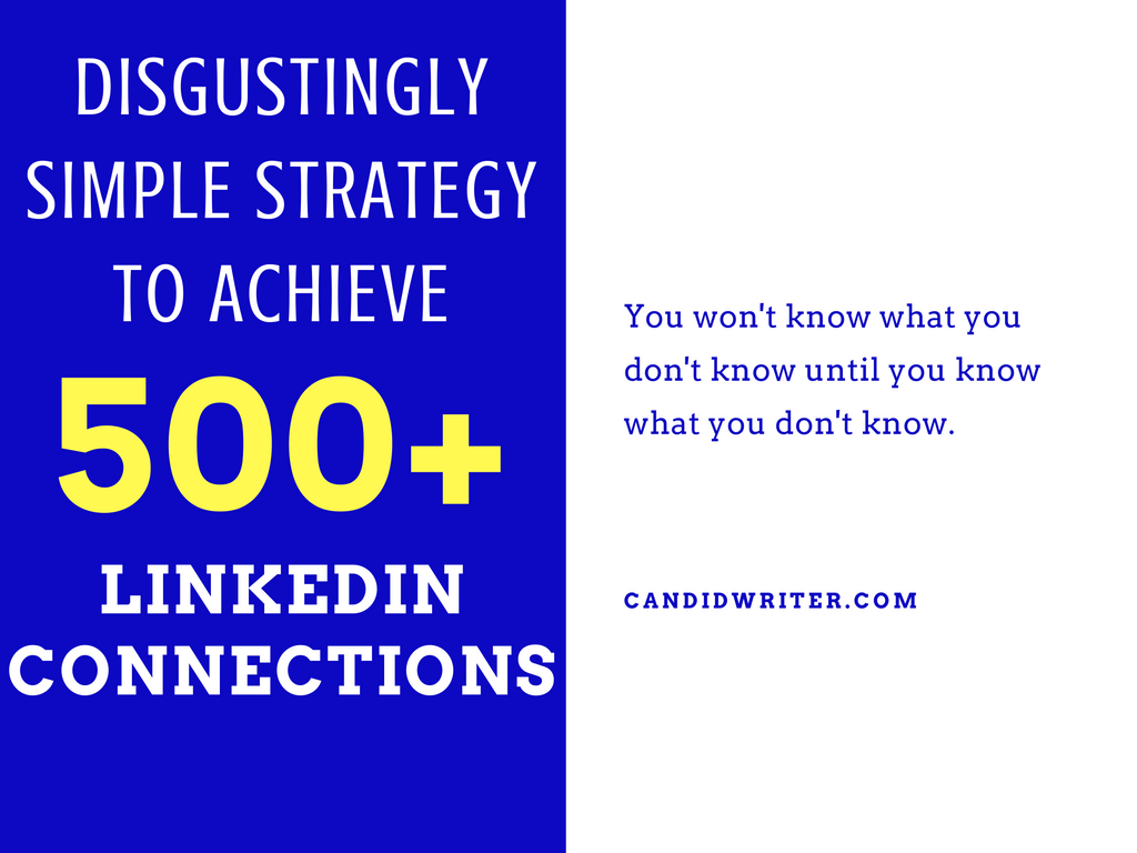 WWW Linkedin Strategy To Get To 500 LinkedIN Connections By Candidwriter Blogger   Source
